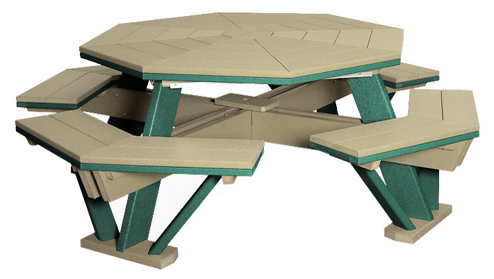 Poly Picnic Tables Finch Outdoor Poly Furniture - Composite octagon picnic table