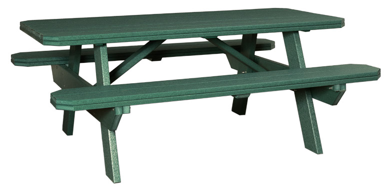 Tremendous Table With Benches Attached 3 X 6 Finch Outdoor Poly Ibusinesslaw Wood Chair Design Ideas Ibusinesslaworg