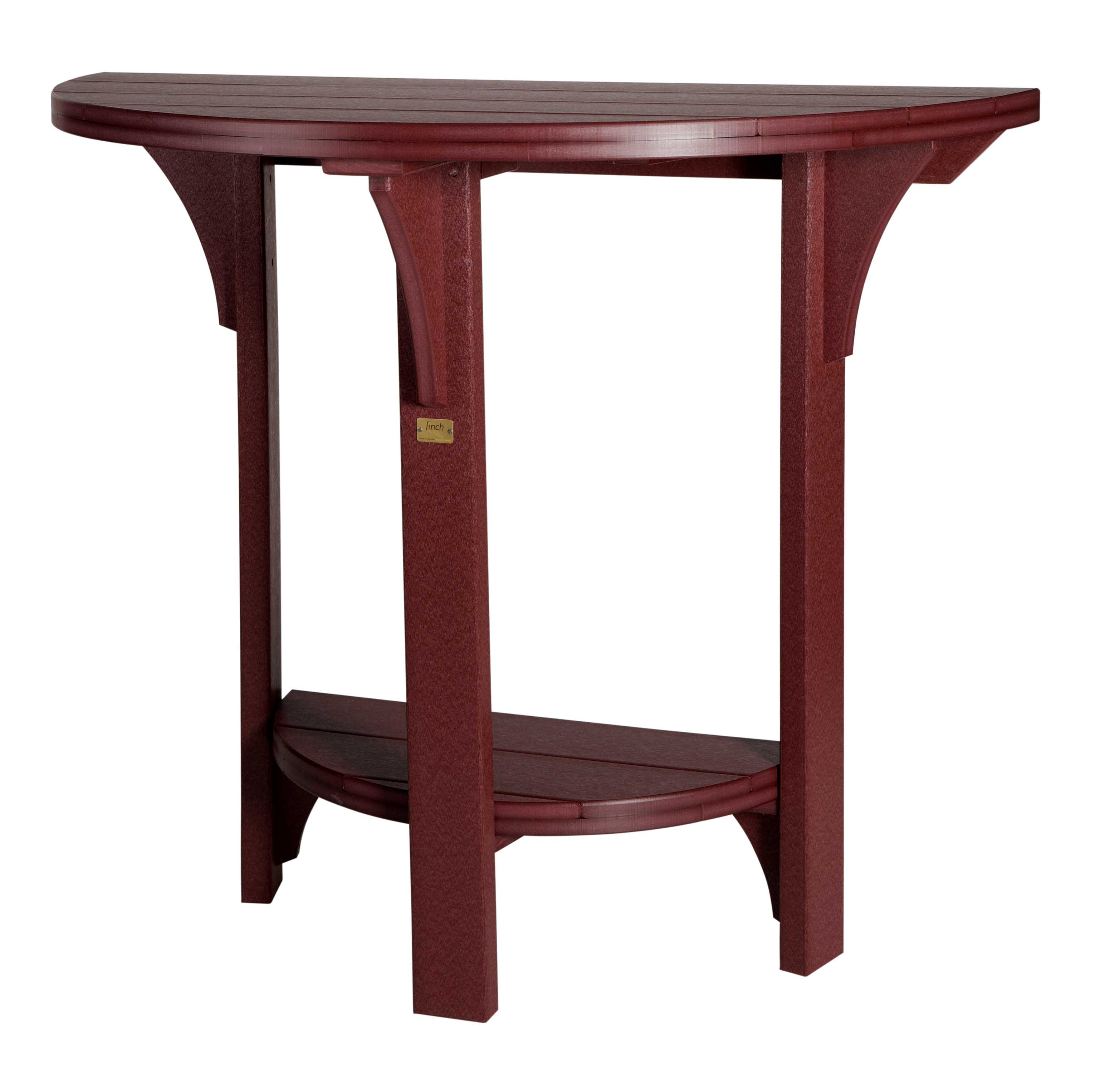 Half Round Bar Height Poly Table