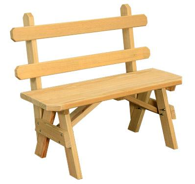 Extra Wide Wooden Benches with Backs