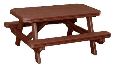 Poly Child's Picnic Table with Benches Attached
