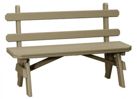 Poly Garden Benches with Backs