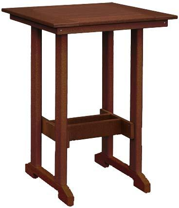Square Bar Height Poly Table