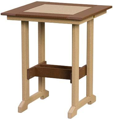 Square Counter Height Poly Table
