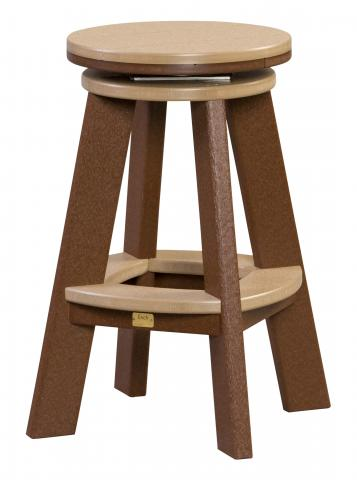 Poly Counter Height Swivel Stool