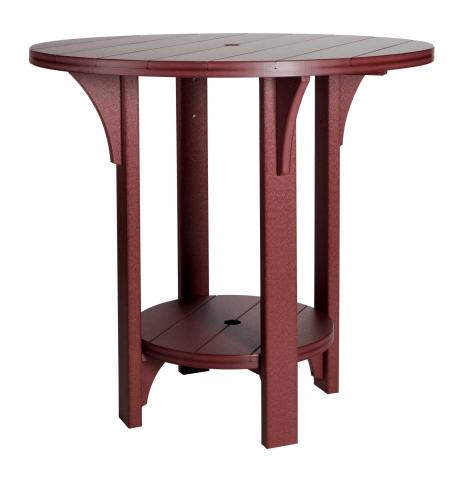Round Poly Bar Height Table