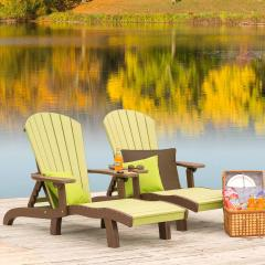 Two Two-tone Poly Lounge Chairs on Dock