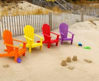 Four Poly Children's Adirondacks at the beach