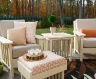 Mission deep seating poly furniture with cushions