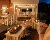 set of poly Mission dining and patio furniture