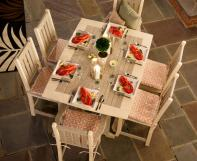 Poly dining furniture set with four side chairs and two arm chairs