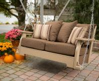 Van Buren Poly Porch Swing with Cushions