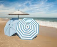 Outdoor umbrellas on beach