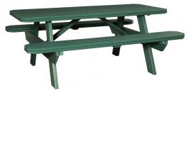 Poly Picnic Table with Benches Attached 3' x 6'
