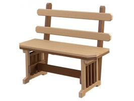 Poly Mission Benches with Backs