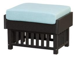 Poly Mission Ottoman with Cushion