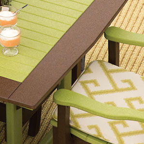 Finch poly furniture is available in many different colors and color combinations