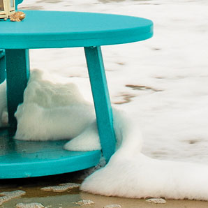 Poly furniture is weather resistant